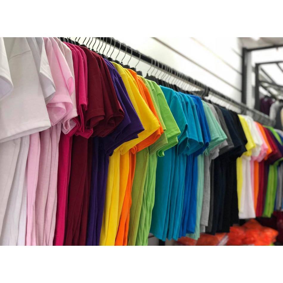 Áo Thun Nam Nữ Trơn Giá Rẻ Nhiều Màu
