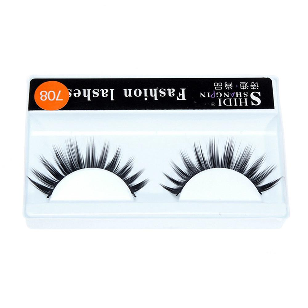 1 Pairs Long Cross Thick False 3D Dense Eyelashes Nautral Eye Lashes-7