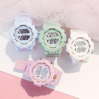 Đồng hồ điện tử dây silicon phong cách Hàn Quốc đơn giản cho nữ