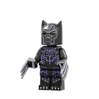 8PCS Black panther Superhero building Blocks dolls figuer Toy