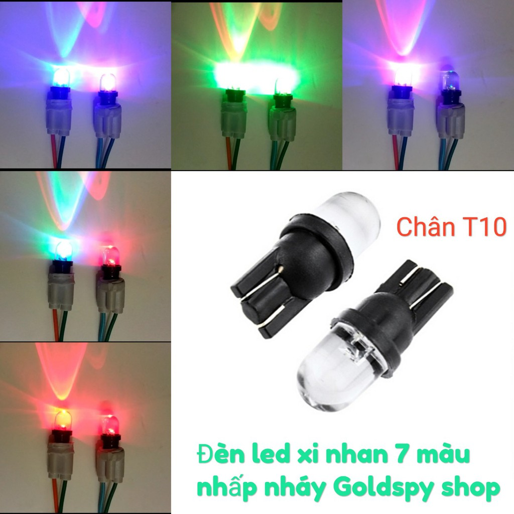 Đèn Led Xi Nhan 7 màu nhấp nháy ( giá 1 cái )