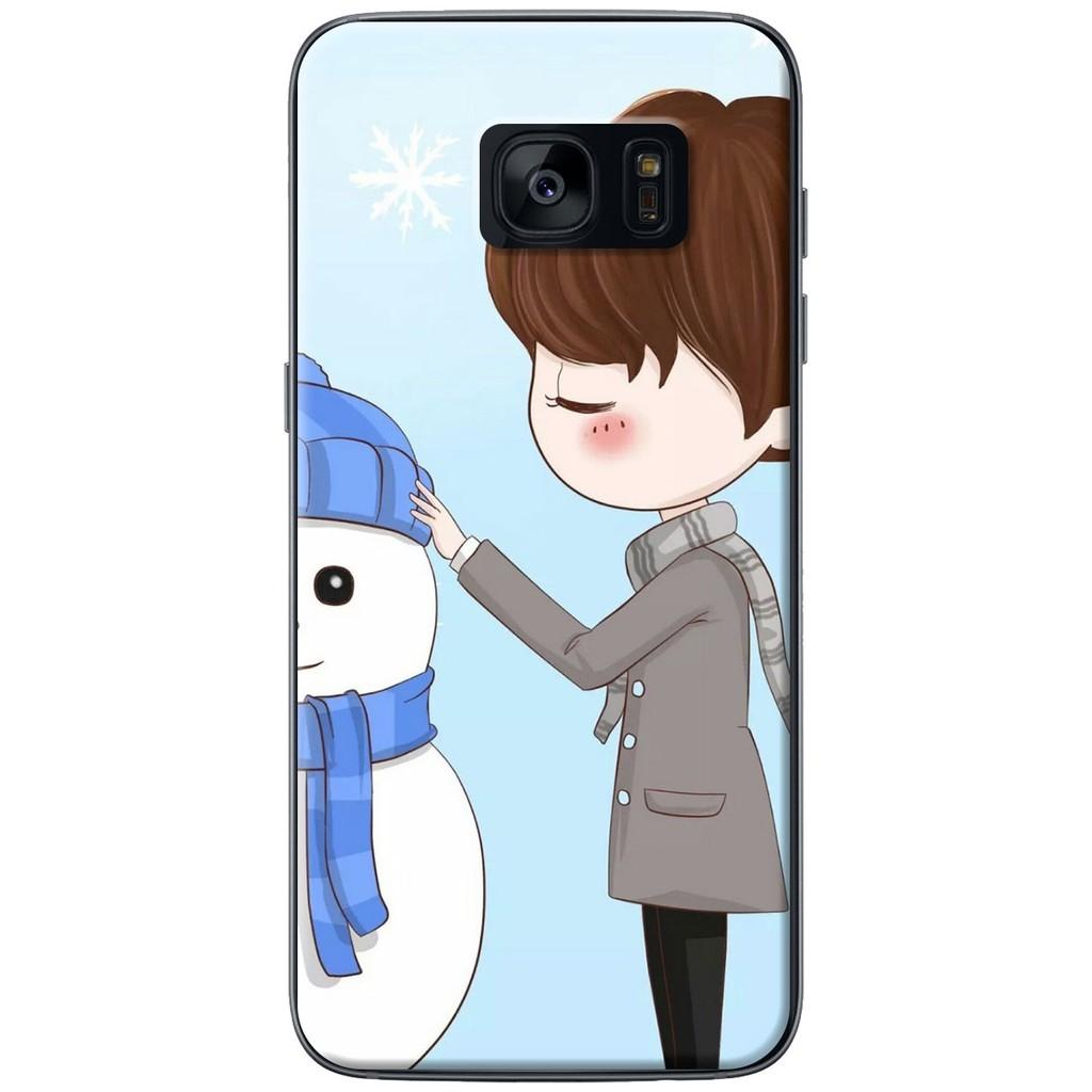 Ốp lưng nhựa dẻo Samsung S7, S7 Edge Anh đắp tuyết