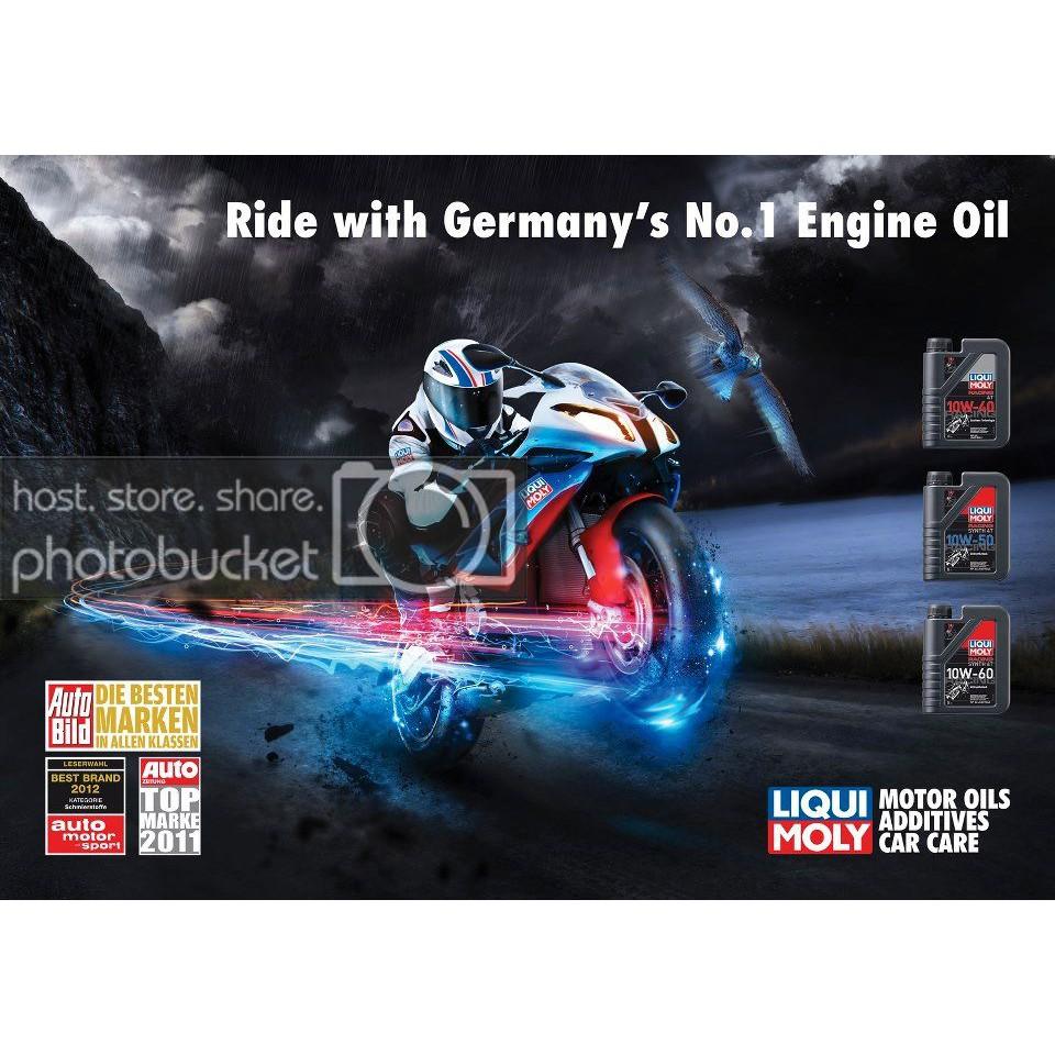 Nhớt Liqui Moly dành cho mô tô phân khối lớn Exciter Racing Liqui Moly 10w50 1L