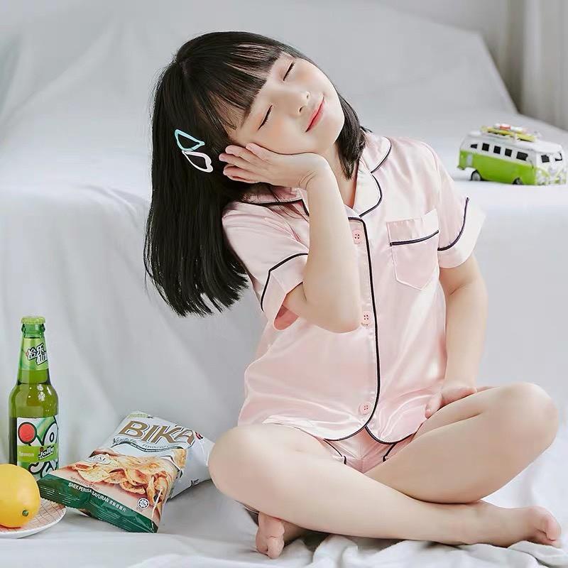 Mặc gì đẹp: Mát mẻ với Bộ ngủ trẻ em pijama lụa mùa hè cho bé Mắm Store chất liệu cao cấp size từ 15 đến 34 kg