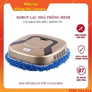 Robot lau nhà - Có bảo hành - Rô bốt lau nhà thông minh sử dụng pin sạc siêu bền có bảo hành - có video thật