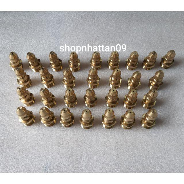 Bộ 30 Đầu Bép Đồng Thau Phun Tưới Lan , Tưới Cây Chân Ren Ngoài 21Mm