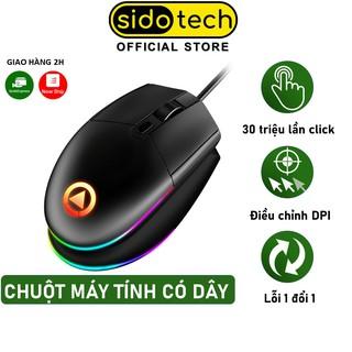Chuột máy tính gaming SIDOTECH 1600DPI LED Gaming Esport Design văn phòng - Hàng Chính Hãng thumbnail