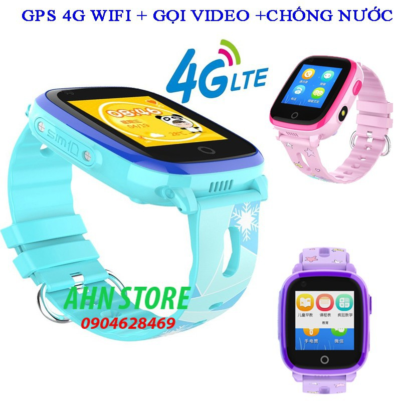 Đồng hồ định vị Trẻ em GPS WiFi 4G DF33 Có chế độ Gọi Video tốc độ cao, Chống nước tuyệt đối IP67(Unlock 8868)