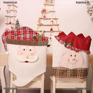 BEY Snowflake Cartoon Grandpa And Grandma Christmas Chair Set Decor Chair Cover