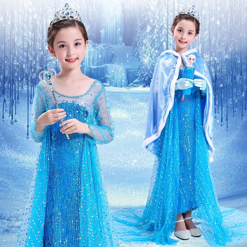 2836868786 - đầm công chúa elsa cho bé gái
