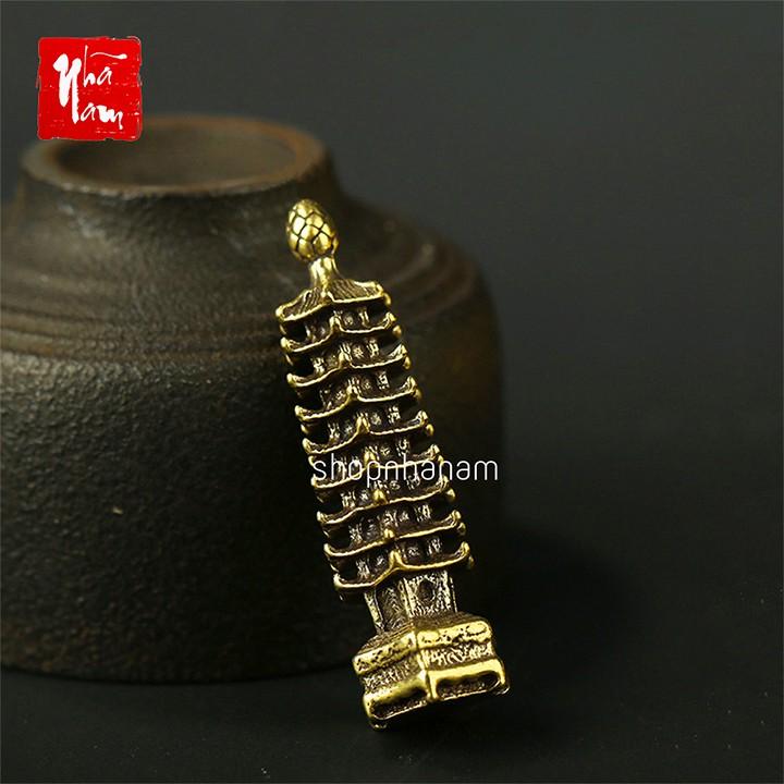Tượng đồng phong thủy tháp văn xương trang trí vật phẩm phong thủy