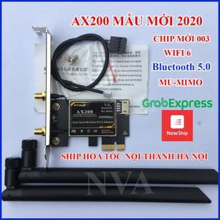 Card Mạng Wifi intel AX200 Wifi 6 – Wifi AX200 Mẫu mới 2020 dành cho máy tính bàn