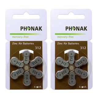 Pin Phonak A312 - Pin máy trợ thính 6 viên 1 vỉ thumbnail