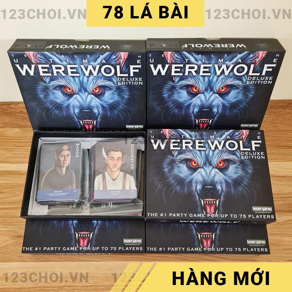 Bộ bài Ma sói 78 thẻ Việt hóa bản mới game nhập vai, Werewolf Ultimate Deluxe tiếng VIệt [GIẢM GIÁ CỰC