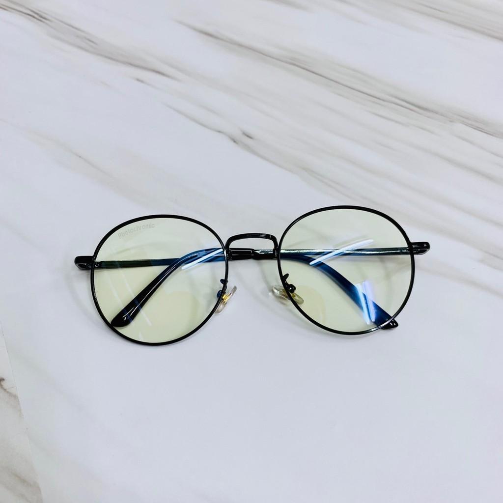 [เก็บเงินปลายทาง] แว่นตากรองแสงสีฟ้า+ออกแดดเปลี่ยนสี เลนส์หลายสี รุ่น 3121