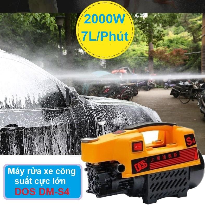 Máy rửa xe áp lực cao DOS - Máy rửa xe công suất lớn - Máy rửa xe áp lực nước cực mạnh