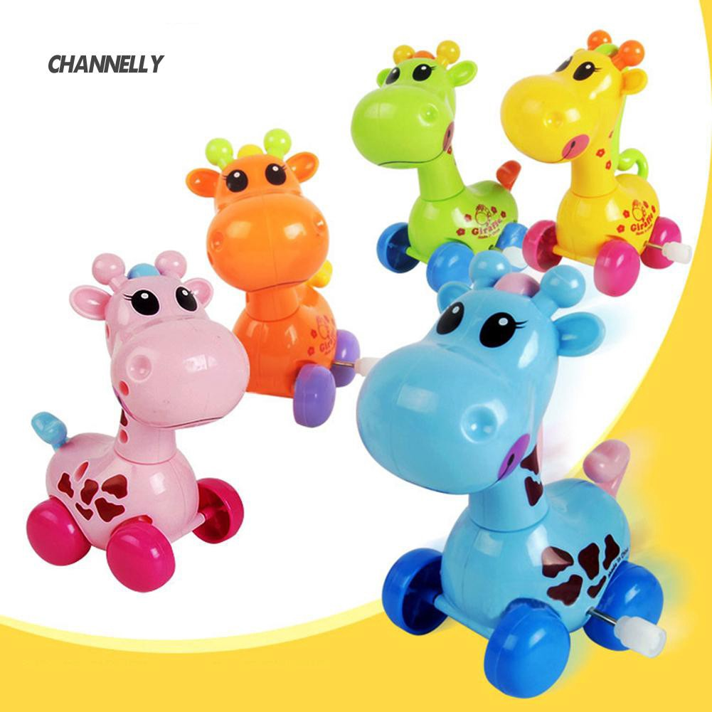 ■Cy Cartoon Animal Giraffe Clockwork Wind-Up Baby Toy Kid Child Birthday Gift