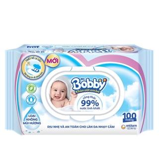 Khăn ướt Bobby care 100 tờ không mùi