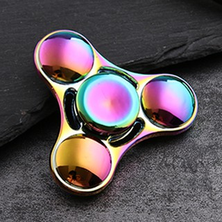 Alloy triangle gyro toy colorful fingertip gyro finger spiral