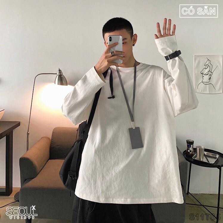 Áo thun, Phông rộng Hàn Quốc dài tay [có sẵn] T-Shirt Loose S11TS5
