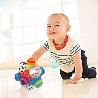 s❤u Multi-edge Baby Hand Catch Bell Ball 3D Rattles Montessori Toy Kids Toys
