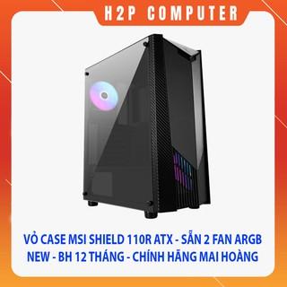 Vỏ Case MSI Shield 110R - ATX - Sẵn 2 Fan ARGB - New - Chính Hãng Mai Hoàng thumbnail