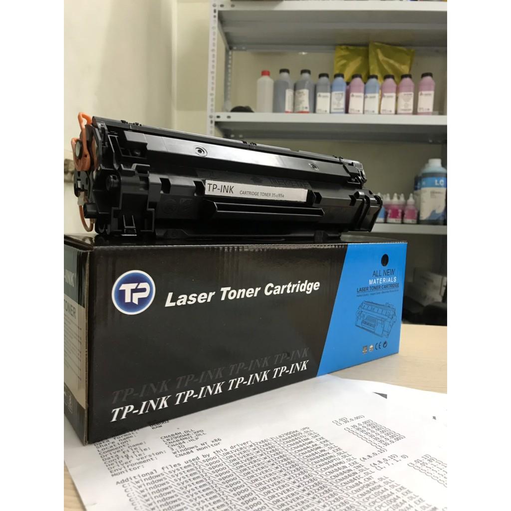 Hộp mực TP-INK35A/85A dùng cho máy in HP1212NF/1214/P1100/P1102, Canon n312/712/912/3018/3100  Có lỗ đổ mực và mực thải