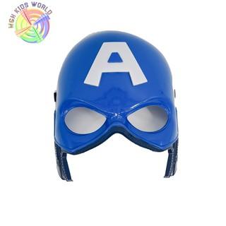 Mặt nạ Đội Trưởng Mỹ CAPTAIN AMERICA có đèn, đồ chơi trẻ em lứa tuổi 3+ mặt nạ hóa trang, halloween, trang phục cosplay