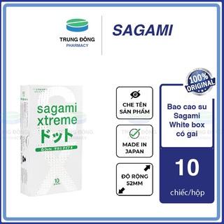 [Hộp 10c] Bao cao su Sagami white box có gai Nhật Bản siêu mỏng BCS kiểu truyền thống - Trung Đông Pharmacy thumbnail