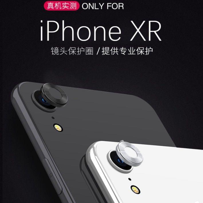 แอปเปิ้ล iphone xr โทรศัพท์กล้องแหวนโลหะ xr หลังเลนส์กล้องฝาครอบเลนส์โล่