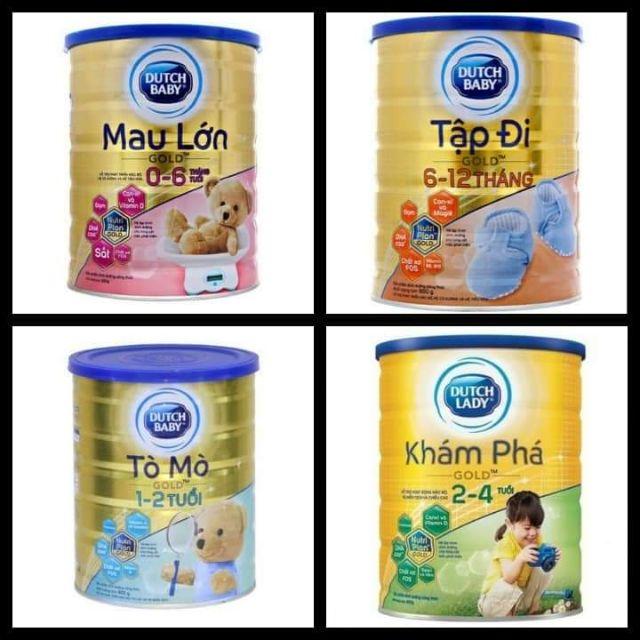 Sữa Dutch Lady gold 0-6 tháng, 6-12tháng, 1-2tuổi, 2-4 tuổi, 4-6tuổi ht 900g
