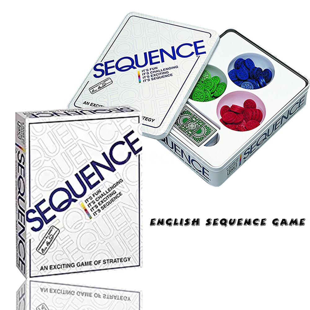 F&T Party Games Sequence Playing Cards Game An Exciting Game of Strategy Friends Playing Together