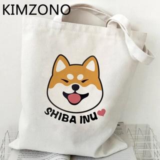 Túi mua sắm hàng hóa hình chú chó Shiba Inu 2021 mới tái sử dụng được