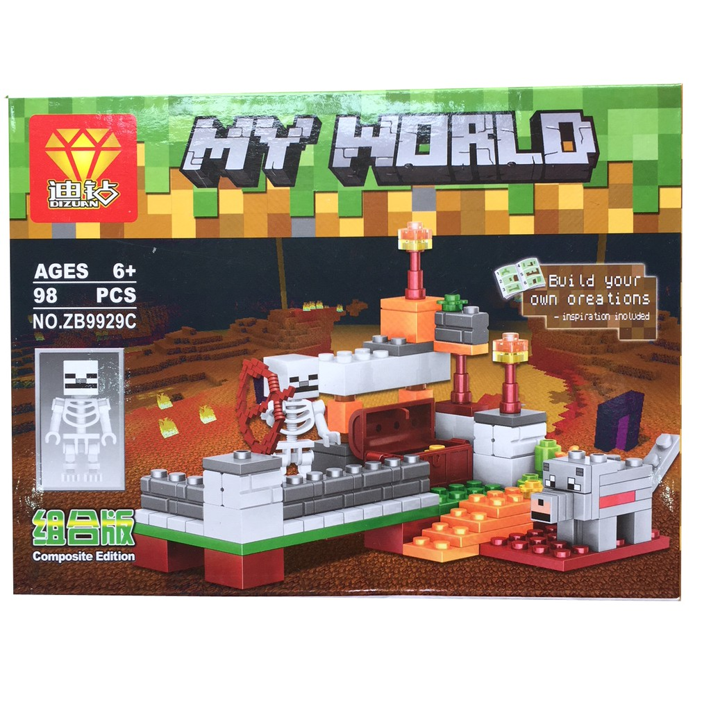 Bộ xếp hình Lego My World MineCraft - 98 PCS - 3089808 , 1129940215 , 322_1129940215 , 70000 , Bo-xep-hinh-Lego-My-World-MineCraft-98-PCS-322_1129940215 , shopee.vn , Bộ xếp hình Lego My World MineCraft - 98 PCS