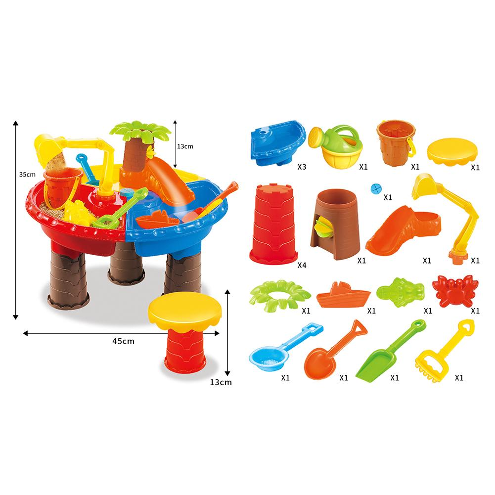 Sand Table Sandglass Play Outdoor Digging Pit Kids Bucket Seaside Water Summer Beach Toy Set