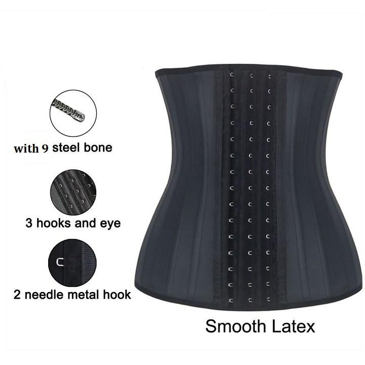Gel nịt bung latex 9 xương gel nịt bụng giảm mỡ eo thon, gel nit bụng hàng chuẩn