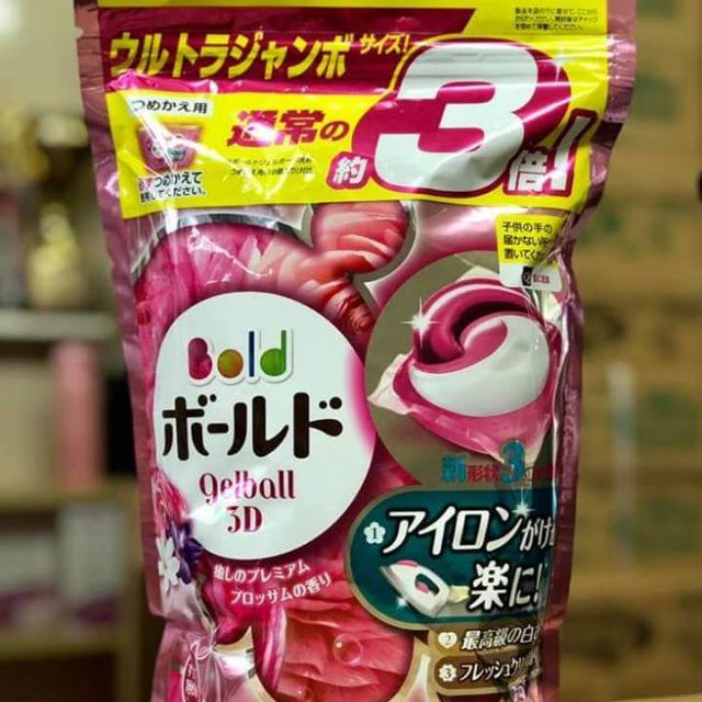 Viên giặt xả Ariel, Gel Ball 3D túi Nhật bản_ hàng chính hãng