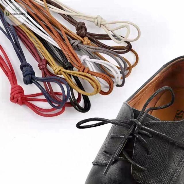 Dây giày sáp cho giày da, giày tây, giày công sở cấp (phủ sáp chống nước, 1 bộ 2 dây) DGDA01