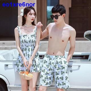 Cặp đôi Áo tắm Nữ Bảo thủ Một mảnh Che phủ mỏng Siêu Tiên in Gợi cảm Nhỏ Tươi trẻ Thời trang Quần đi biển Nam thumbnail