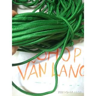 [ LOẠI 1 ] Dây dù tròn buộc đồ màu xanh .Sợi dây siêu dai ,dày ,bền chắc, chịu trọng tải lớn