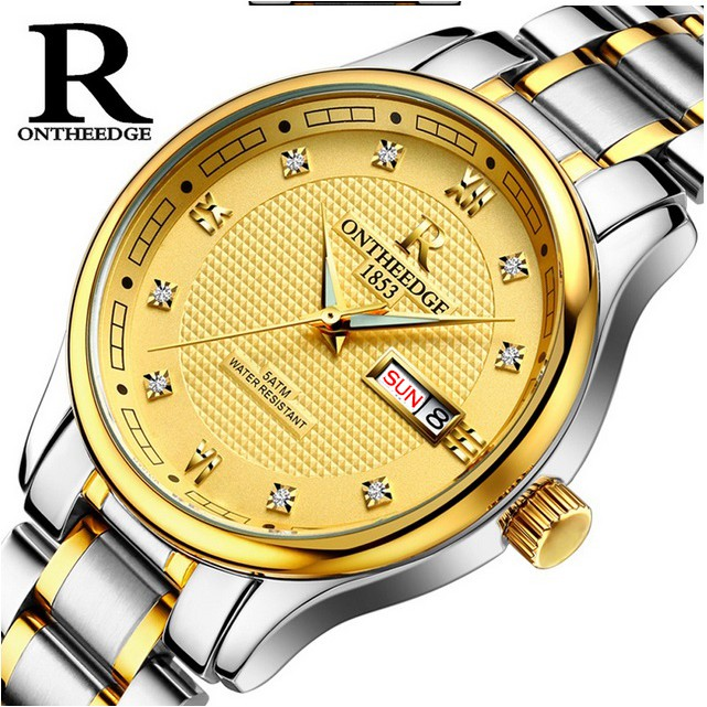 Đồng hồ nam dây thép đặc Ontheedge RZY03 (fullbox, bảo hành 12 tháng)