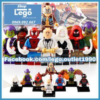 Xếp hình Lego Miles Morales - Green Goblin - King pin - Spider Gwen - Scorpion - Spider-man Lego Minifigures Xinh X0241 thumbnail
