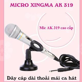 (Nhập Khẩu Chính Hãng) Micro Karaoke Xingma AK319 Có Dây Cáp Dài Chống Hú Tốt Âm Thanh Tuyệt Hảo