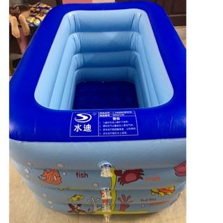 Bể bơi sâu lòng Kt 1m30x85x70cm cho bé