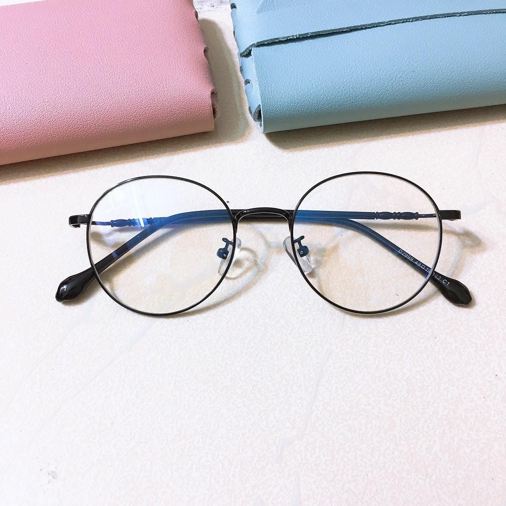 Kính gọng mắt tròn Vintage Kim loại Hàn Quốc - VK02890