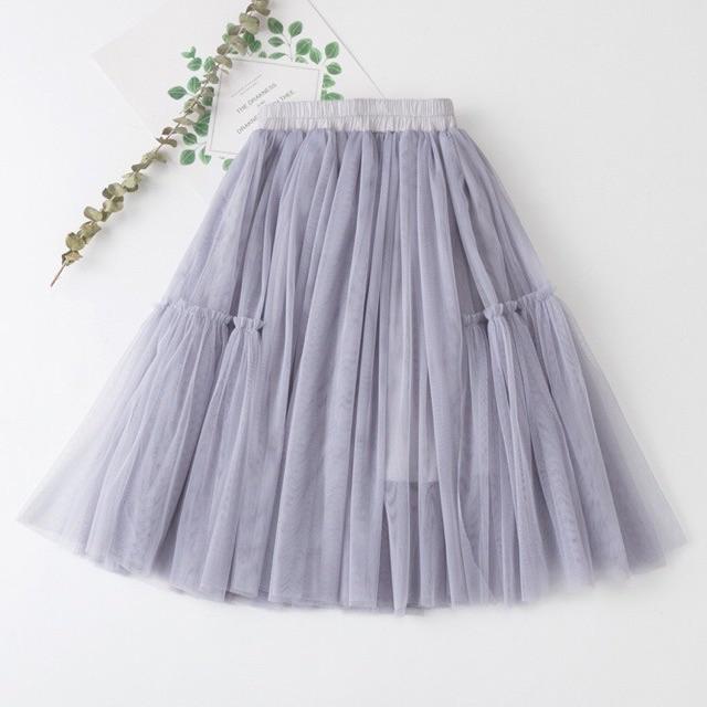 Chân váy lưới cho mẹ và bé hàng loại 1 y hình