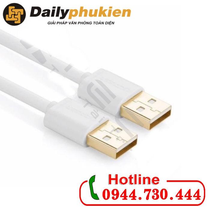 Cáp USB 2 đầu đực dài 1m chính hãng Ugreen 30132 cao cấp