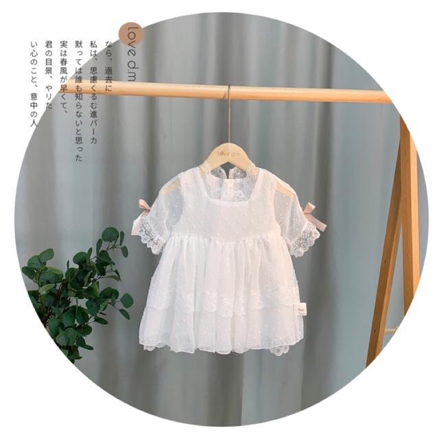 Đầm công chúa trắng tinh khôi sang