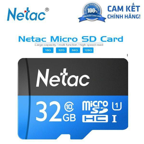 Thẻ nhớ Netac 32GB / 64GB Micro SD Class10 80Mb/s - Chính hãng