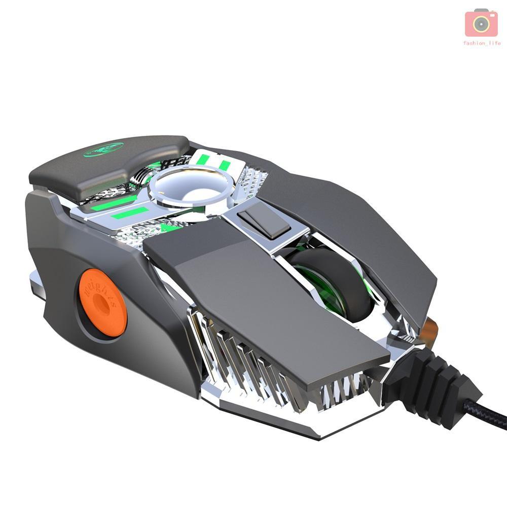 Chuột Chơi Game Hxsj J200 Có Dây Và Đèn Rgb Màu Xám